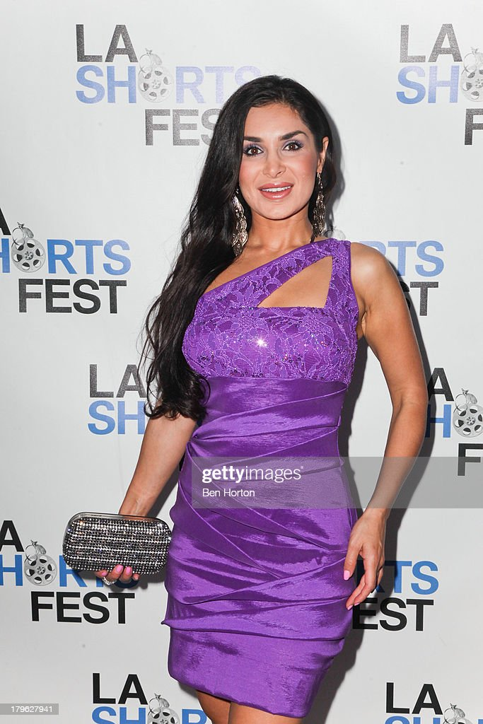 Actress <a gi-track='captionPersonalityLinkClicked' href=/galleries/search?phrase=Saye+Yabandeh&family=editorial&specificpeople=843255 ng-click='$event.stopPropagation()'>Saye Yabandeh</a> attends the opening night of the 2013 Los Angeles International Short Film Festival at Laemmle NoHo 7 on September 5, 2013 in North Hollywood, California.