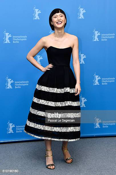 Actress Sayuri Oyamada attends the 'While the Women Are Sleeping' photo call during the 66th Berlinale International Film Festival Berlin at Grand...