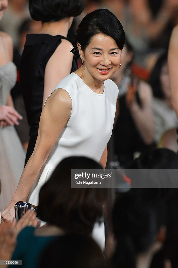 Actress Sayuri Yoshinaga attends the 36th Japan Academy Prize Award Ceremony at Grand Prince Hotel Shin Takanawa on March 8, 2013 in Tokyo, Japan.