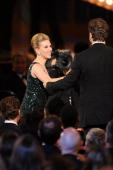 Actress Scarlett Johansson and actor Ryan Renyolds onstage during the 64th Annual Tony Awards at Radio City Music Hall on June 13 2010 in New York...