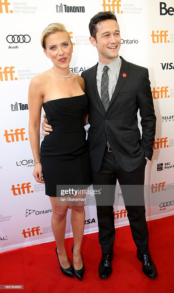 Actress Scarlett Johansson and actor/filmmaker Joseph Gordon-Levitt arrives at the 'Don Jon' Premiere during the 2013 Toronto International Film Festival at Princess of Wales Theatre on September 10, 2013 in Toronto, Canada. (Photo by Ian Blakeman/WireImage).
