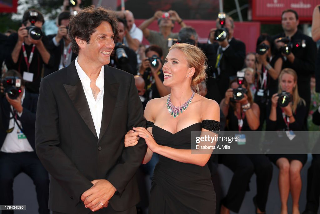 Actress Scarlett Johansson and director Jonathan Glazer attend 'Under The Skin' Premiere during the 70th Venice International Film Festival at Sala Grande on September 3, 2013 in Venice, Italy.