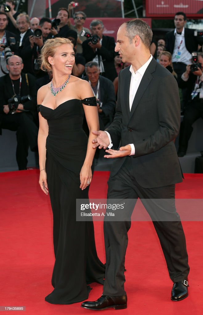 Actress Scarlett Johansson and producer James Wilson attend 'Under The Skin' Premiere during the 70th Venice International Film Festival at Sala Grande on September 3, 2013 in Venice, Italy.