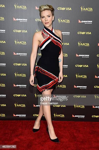 Actress Scarlett Johansson arrives at the 2015 G'Day USA Gala Featuring The AACTA International Awards Presented By QANTAS at the Hollywood Palladium...
