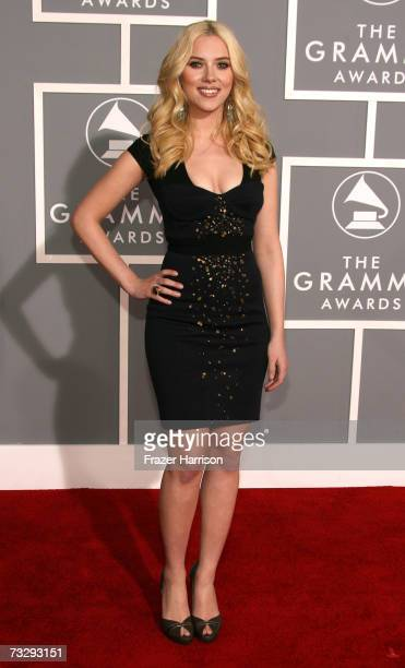 Actress Scarlett Johansson arrives at the 49th Annual Grammy Awards at the Staples Center on February 11 2007 in Los Angeles California