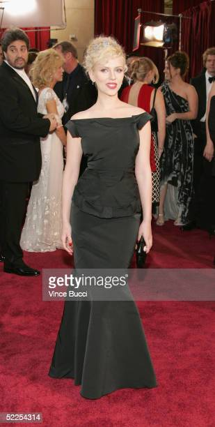 Actress Scarlett Johansson arrives at the 77th Annual Academy Awards at the Kodak Theater on February 27 2005 in Hollywood California