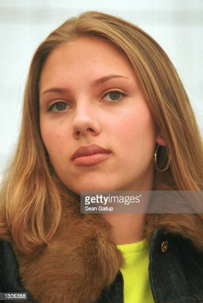 Actress Scarlett Johansson arrives for the screening of the film 'Ghost World' at the 36th Karlovy Vary International Film Festival July 13 2001 in...