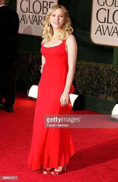 Actress Scarlett Johansson arrives to the 63rd Annual Golden Globe Awards at the Beverly Hilton on January 16 2006 in Beverly Hills California