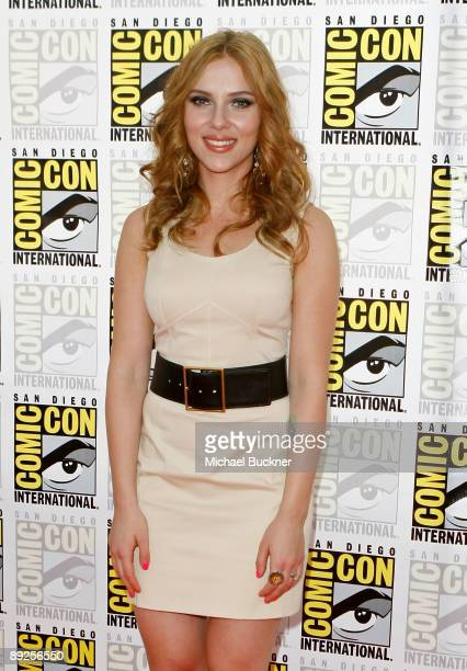 Actress Scarlett Johansson attends 'Iron Man 2' panel discussion during ComicCon 2009 held at San Diego Convention Center on July 25 2009 in San...