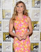 Actress Scarlett Johansson attends Marvel's 'Captain America The Winter Soldier' during ComicCon International 2013 at the Hilton San Diego Bayfront...