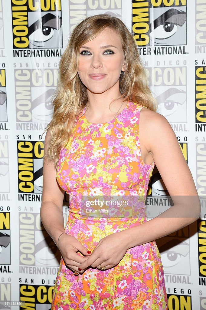 Actress Scarlett Johansson attends Marvel's 'Captain America: The Winter Soldier' during Comic-Con International 2013 at the Hilton San Diego Bayfront Hotel on July 20, 2013 in San Diego, California.