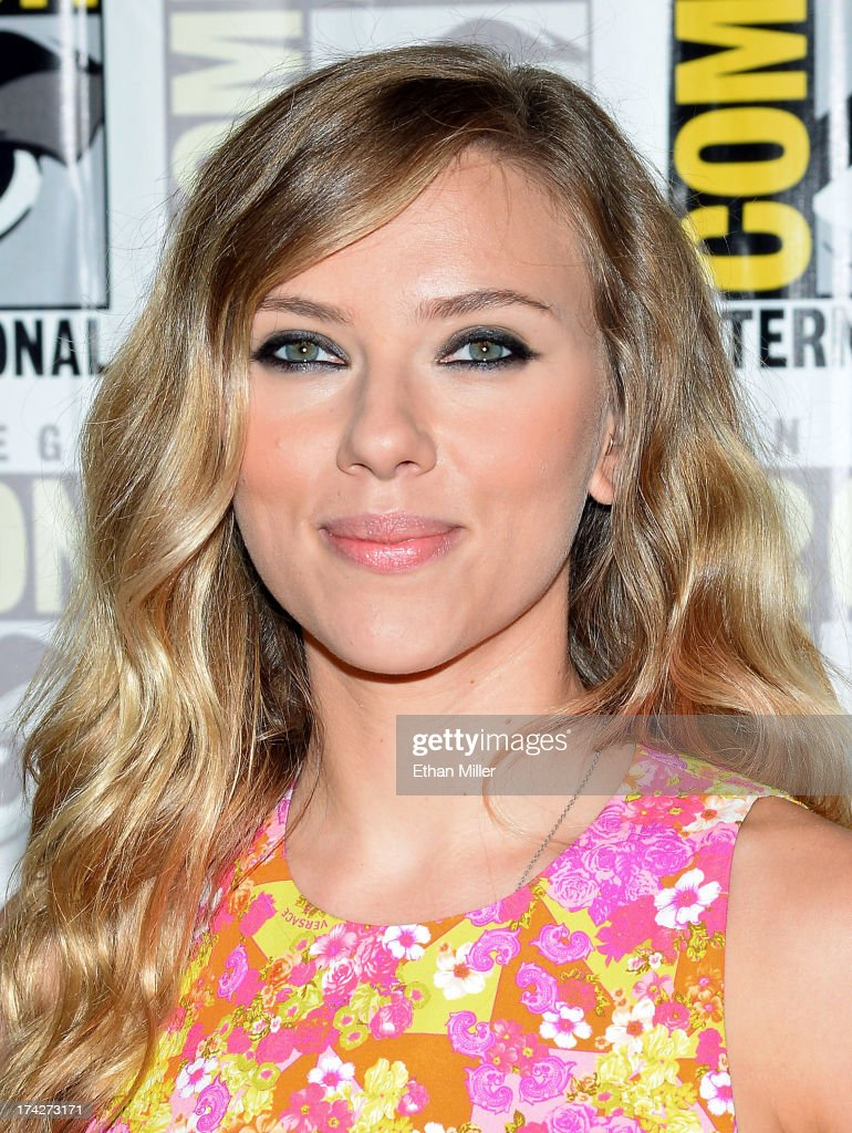 Actress Scarlett Johansson attends Marvel's 'Captain America: The Winter Soldier' press line during Comic-Con International 2013 at the Hilton San Diego Bayfront Hotel on July 20, 2013 in San Diego, California.
