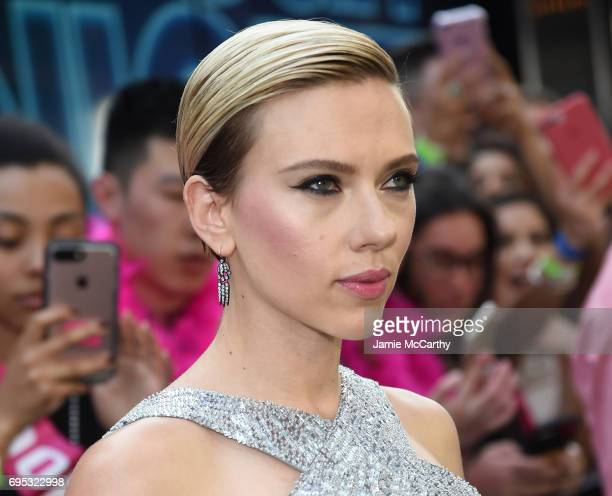 Actress Scarlett Johansson attends New York Premiere of Sony's ROUGH NIGHT presented by SVEDKA Vodka at AMC Lincoln Square Theater on June 12 2017 in...