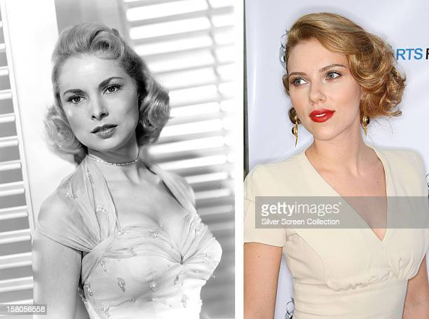 In this composite image a comparison has been made between actresses Janet Leigh and Scarlett Johansson Actress Scarlett Johansson will play actress...