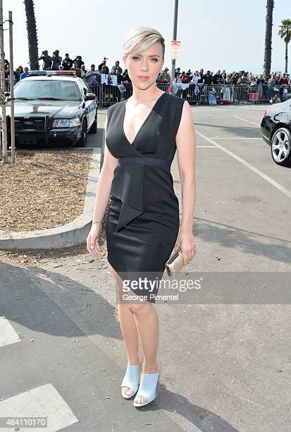 Actress Scarlett Johansson attends the 2015 Film Independent Spirit Awards at Santa Monica Beach on February 21 2015 in Santa Monica California