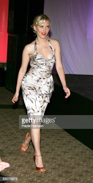 Actress Scarlett Johansson attends the 4th annual Premiere The New Power event in celebration of the next generation of Hollywood power players held...