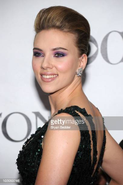 Actress Scarlett Johansson attends the 64th Annual Tony Awards at Radio City Music Hall on June 13 2010 in New York City