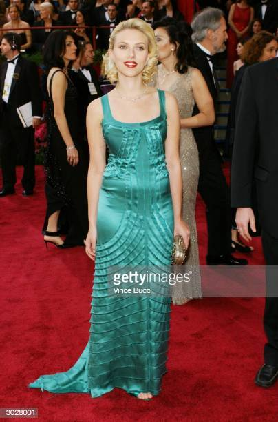 Actress Scarlett Johansson attends the 76th Annual Academy Awards at the Kodak Theater on February 29 2004 in Hollywood California