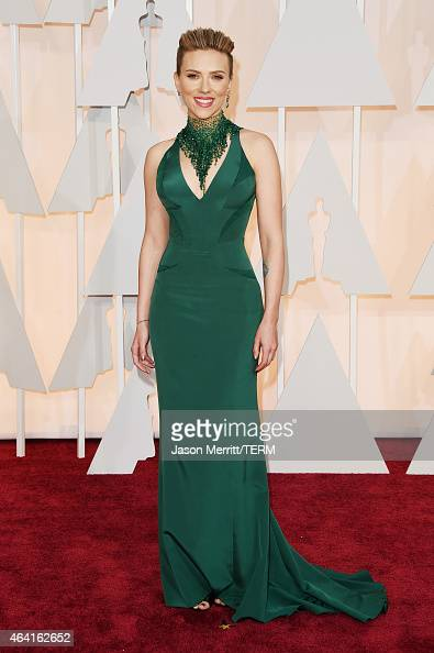 Actress Scarlett Johansson attends the 87th Annual Academy Awards at Hollywood Highland Center on February 22 2015 in Hollywood California