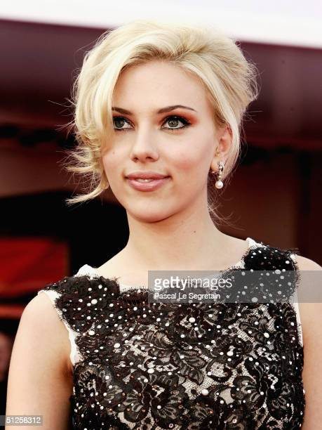 Actress Scarlett Johansson attends the 'A Love Song For Bobby Long' Premiere at the 61st Venice Film Festival on September 2 2004 in Venice Italy