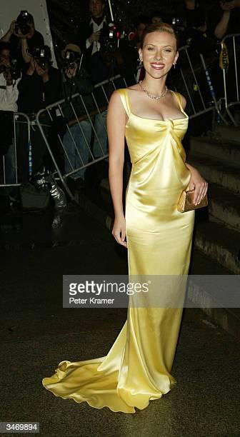 Actress Scarlett Johansson attends the 'Dangerous Liasons The Art of Seduction' The Metropolitan Museums Costume Institute Benefit Gala April 26 2004...