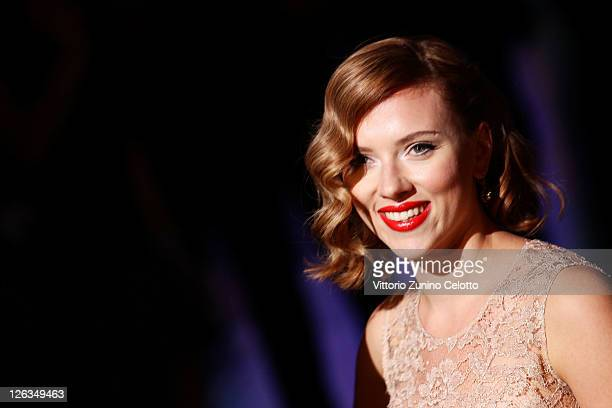 Actress Scarlett Johansson attends the Dolce Gabbana Spring/Summer 2012 fashion show as part Milan Womenswear Fashion Week on September 25 2011 in...