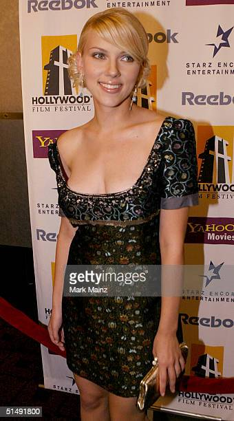 Actress Scarlett Johansson attends the Hollywood Film Festival's closing night premiere of 'A Love Song For Bobby Long' at the ArcLight Theatre...