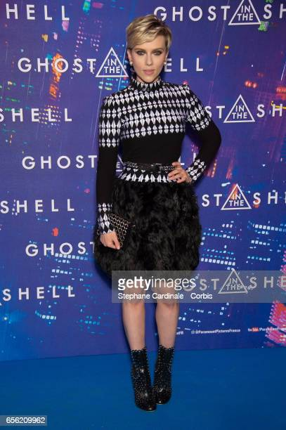 Actress Scarlett Johansson attends the Paris Premiere of the Paramount Pictures release 'Ghost In The Shell' at Le Grand Rex on March 21 2017 in...