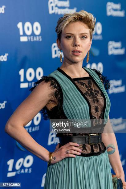 Actress Scarlett Johansson attends the Planned Parenthood 100th Anniversary Gala at Pier 36 on May 2 2017 in New York City