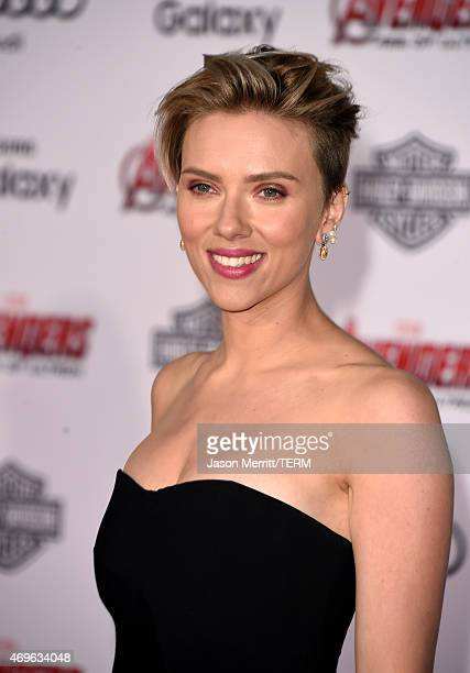 Actress Scarlett Johansson attends the premiere of Marvel's 'Avengers Age Of Ultron' at Dolby Theatre on April 13 2015 in Hollywood California