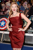 Actress Scarlett Johansson attends the UK Film Premiere of 'Captain America The Winter Soldier' at Westfield London on March 20 2014 in London England
