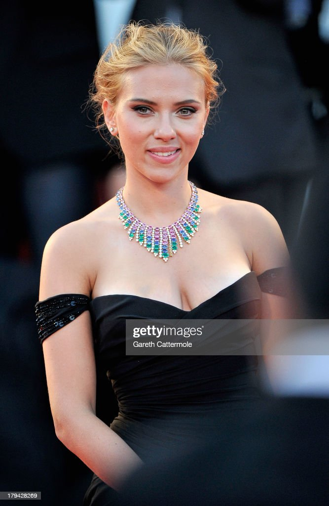 Actress <a gi-track='captionPersonalityLinkClicked' href=/galleries/search?phrase=Scarlett+Johansson&family=editorial&specificpeople=171858 ng-click='$event.stopPropagation()'>Scarlett Johansson</a> attends 'Under The Skin' Premiere during the 70th Venice International Film Festival at Palazzo del Cinema on September 3, 2013 in Venice, Italy.
