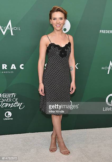 Actress Scarlett Johansson attends Variety's Power of Women Luncheon 2016 at the Beverly Wilshire Four Seasons Hotel on October 14 2016 in Beverly...