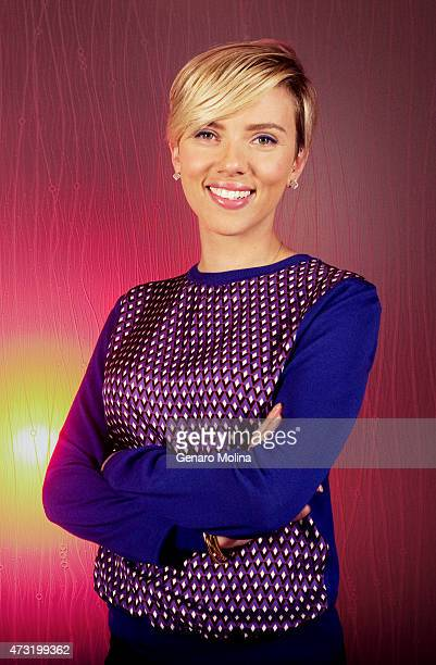 Actress Scarlett Johansson is photographed for Los Angeles Times on April 11 2015 in Studio City California PUBLISHED IMAGE CREDIT MUST READ Genaro...