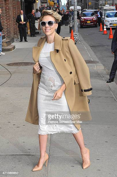 Actress Scarlett Johansson is seen on April 27 2015 in New York City
