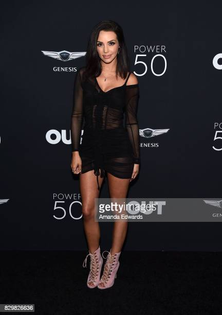 Actress Scheana Marie arrives at OUT Magazine's Inaugural POWER 50 Gala Awards Presentation at Goya Studios on August 10 2017 in Los Angeles...