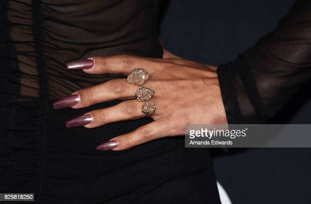 Actress Scheana Marie ring and manicure detail arrives at OUT Magazine's Inaugural POWER 50 Gala Awards Presentation at Goya Studios on August 10...