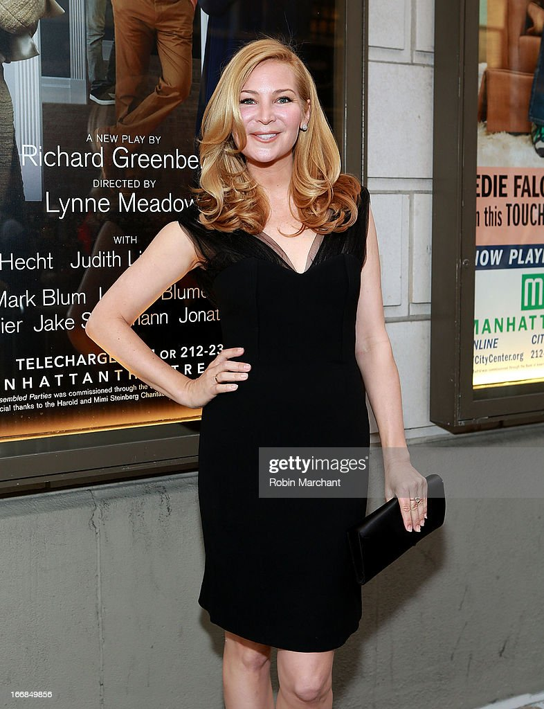 Actress/ Screenwriter Jennifer Westfeldt attends the 'The Assembled Parties' opening night at Samuel J. Friedman Theatre on April 17, 2013 in New York City.