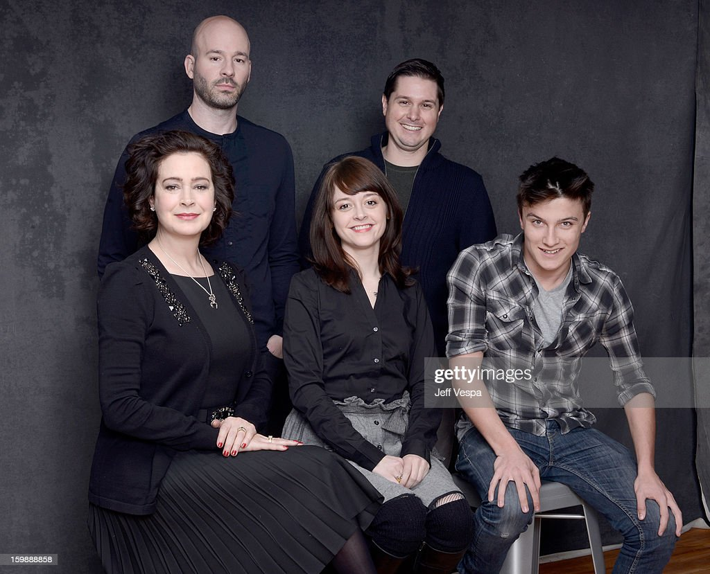 Actress Sean Young, director Chad Crawford Kinkle, actress Lauren Ashley Carter, producer Andrew van den Houten, and actor Daniel Manche pose for a portrait during the 2013 Sundance Film Festival at the WireImage Portrait Studio at Village At The Lift on January 22, 2013 in Park City, Utah.