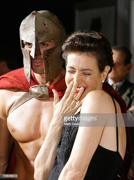 Actress Sean Young poses for photographers at the DVD release for the '300' held at Petco Park Stadium on July 272007 in San Diego California