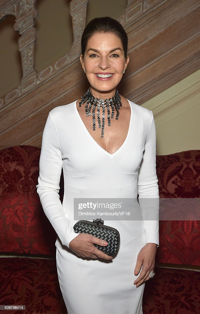 Actress Sela Ward attends the Bloomberg & Vanity Fair cocktail reception following the 2015 WHCA Dinner at the residence of the French Ambassador on April 30, 2016 in Washington, DC.