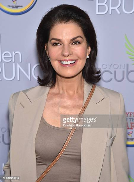 Actress Sela Ward attends the Garden Brunch prior to the 102nd White House Correspondents' Association Dinner at the BeallWashington House on April...