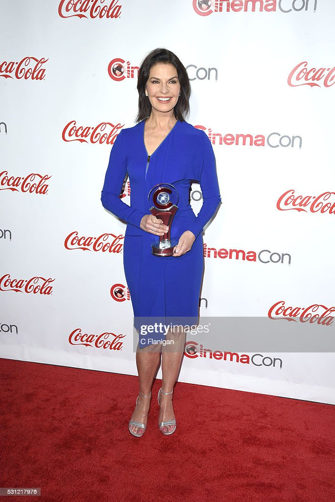 Actress Sela Ward, one of the recipients of the Ensemble of the Universe Award for 'Independence Day: Resurgence,' attend the CinemaCon Big Screen Achievement Awards brought to you by the Coca-Cola Company at Omnia Nightclub at Caesars Palace during CinemaCon, the official convention of the National Association of Theatre Owners, on April 14, 2016 in Las Vegas, Nevada.