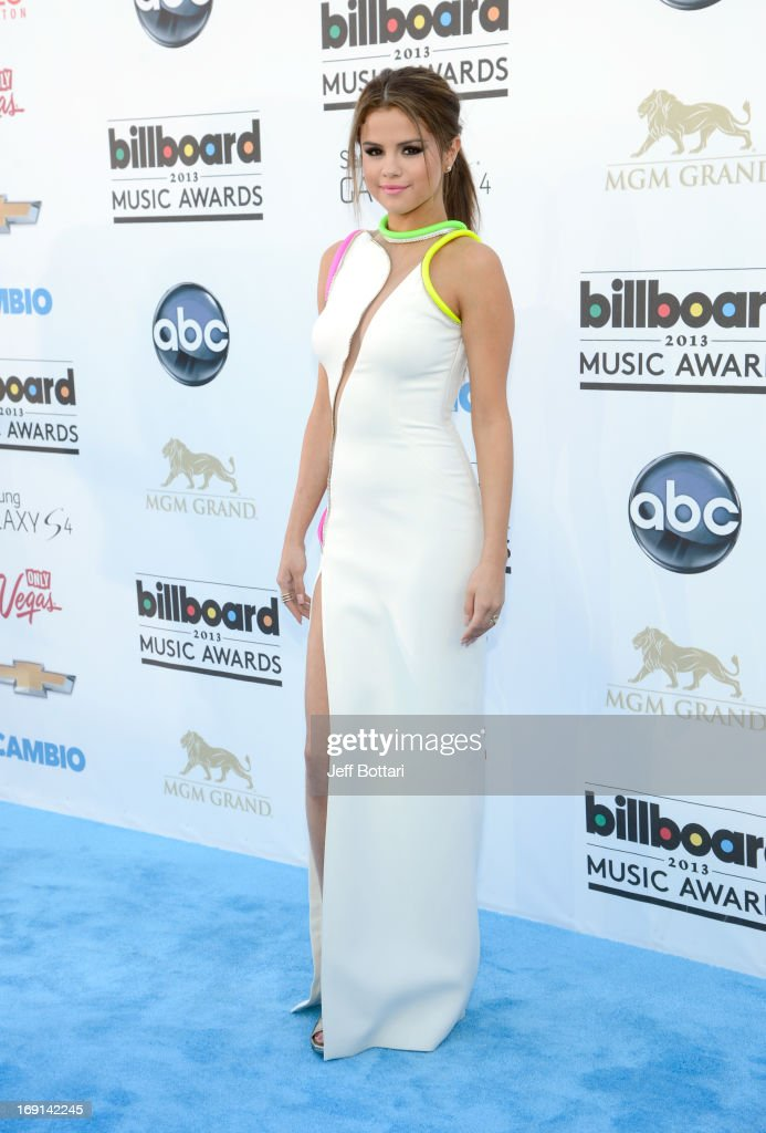 Actress Selena Gomez arrives at the 2013 Billboard Music Awards at the MGM Grand Garden Arena on May 19, 2013 in Las Vegas, Nevada.