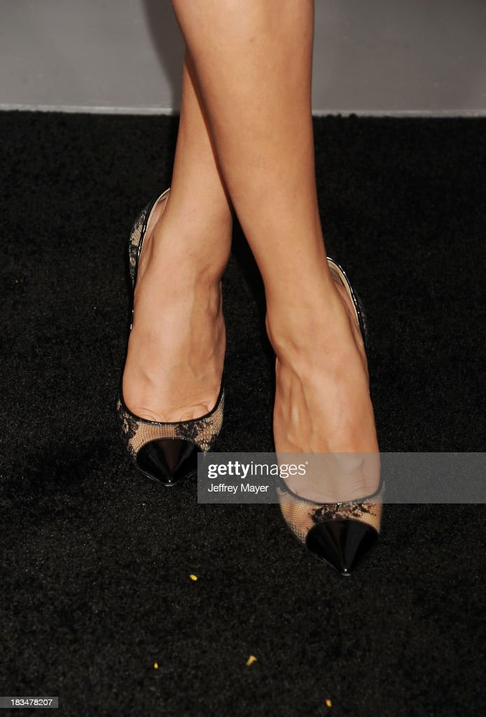Actress Selena Gomez (shoe detail) at the 'Getaway' - Los Angeles Premiere at Regency Village Theatre on August 26, 2013 in Westwood, California.