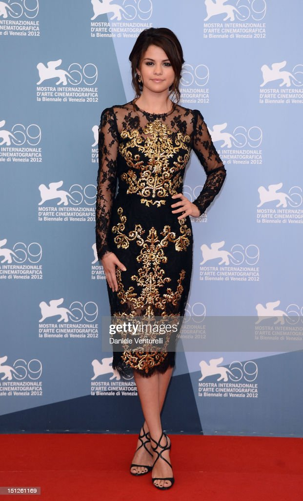 Actress Selena Gomez attends 'Spring Breakers' Photocall during The 69th Venice Film Festival at the Palazzo del Casino on on September 5 2012 in...