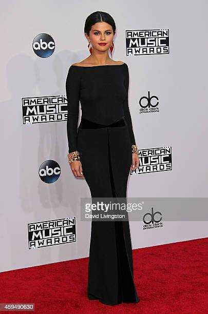 Actress Selena Gomez attends the 42nd Annual American Music Awards at the Nokia Theatre LA Live on November 23 2014 in Los Angeles California