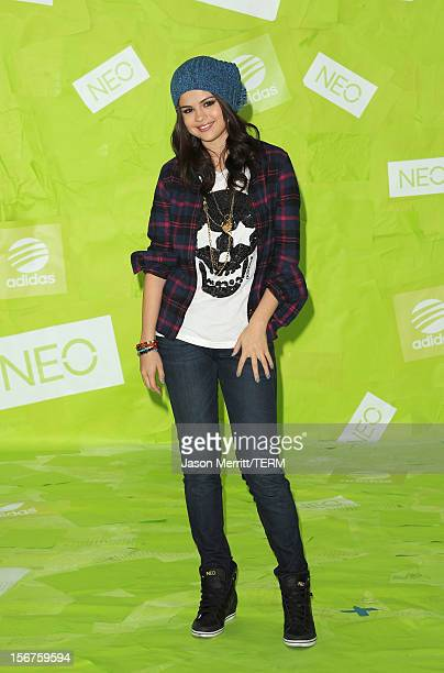 Actress Selena Gomez attends the Adidas NEO news conference on November 20 2012 in Los Angeles California