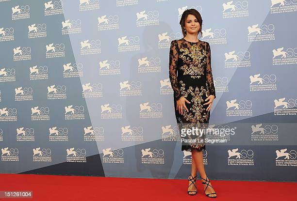 Actress Selena Gomez attends the 'Spring Breakers' Photocall during the 69th Venice Film Festival at the Palazzo del Casino on September 5 2012 in...