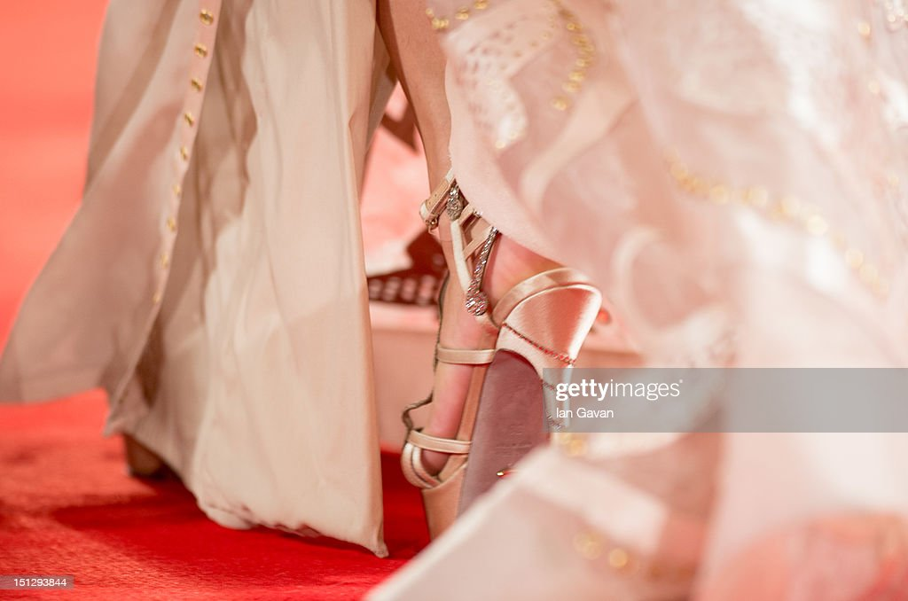 Actress Selena Gomez (shoe detail) attends the 'Spring Breakers' Premiere during The 69th Venice Film Festival at the Palazzo del Cinema on September 5, 2012 in Venice, Italy.
